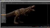 TRex lookDev and lighting with Maya and Arnold