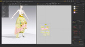 Cloth modeling pipeline with Marvelous designer