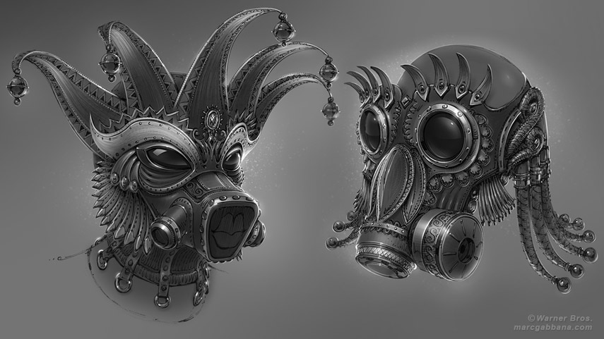 Blade Runner 2049 Mardi Gras gas masks
