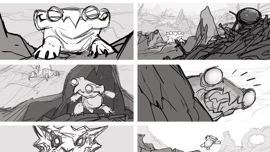 Conceptual Storyboarding: Storytelling and Struggle