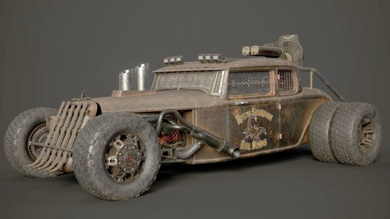 Vehicle Texturing in Substance Painter: From Clean to Mean