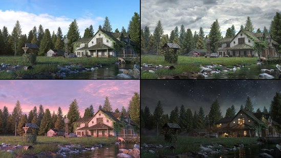 Exterior Scene Development